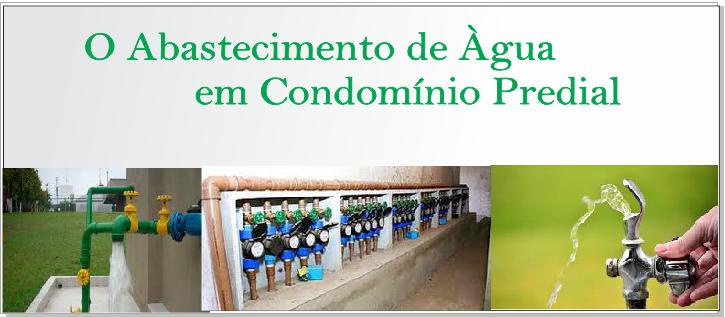O abastecimento de água em condomínio predial
