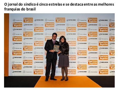 O jornal do síndico é cinco estrelas e se destaca entre as melhores franquias do brasil
