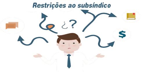 Restrições ao subsíndico