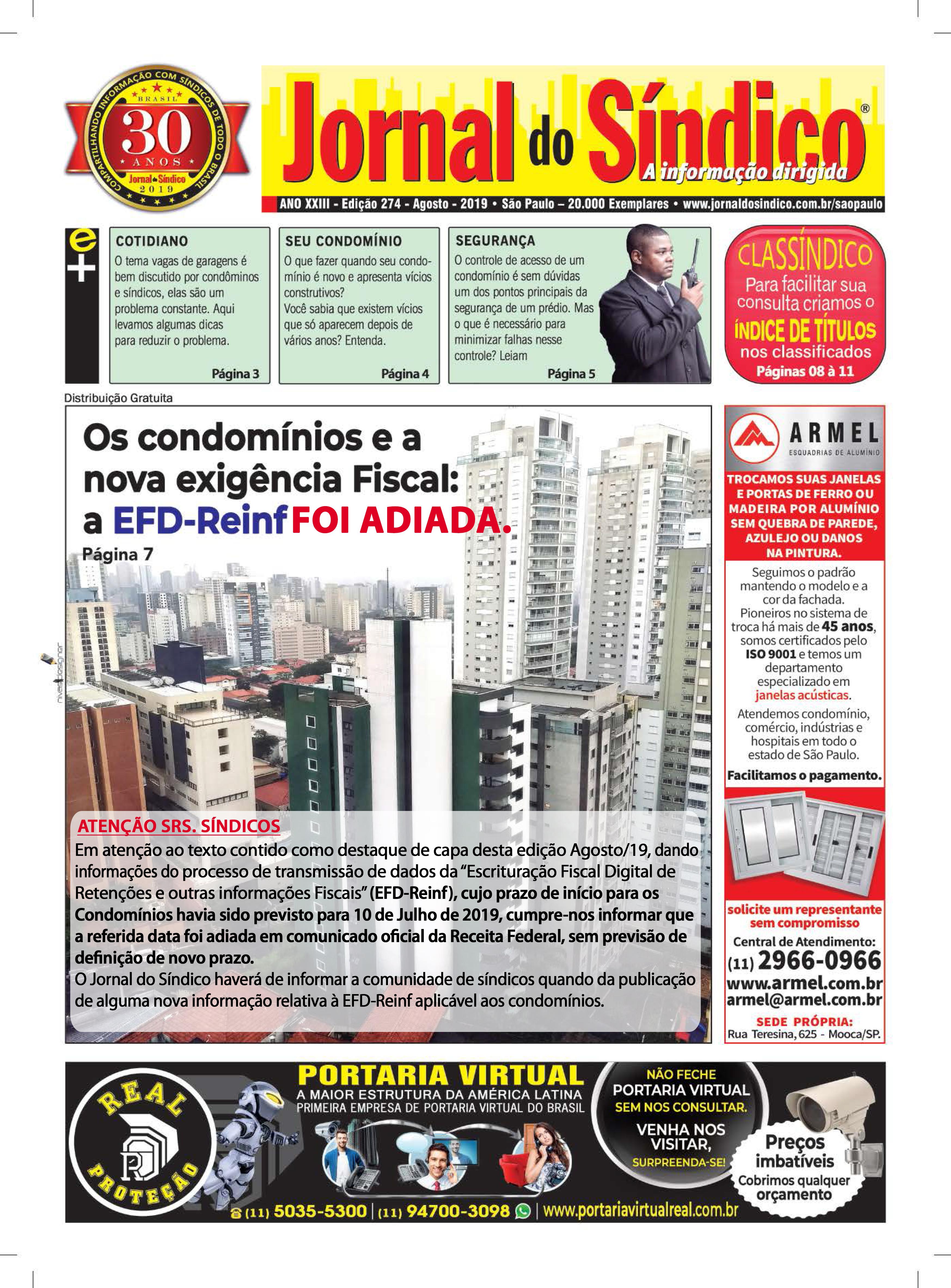 Jornal-Ediç 274 - Agosto 2019.indd