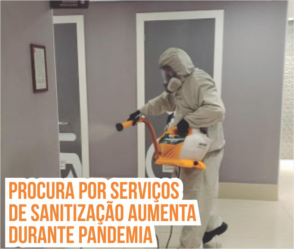 Procura por serviços de sanitização aumenta durante pandemia