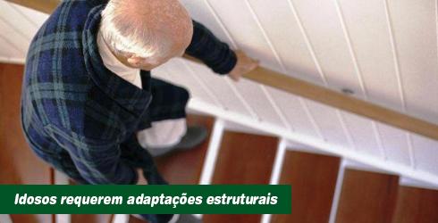 Idosos requerem adaptações estruturais