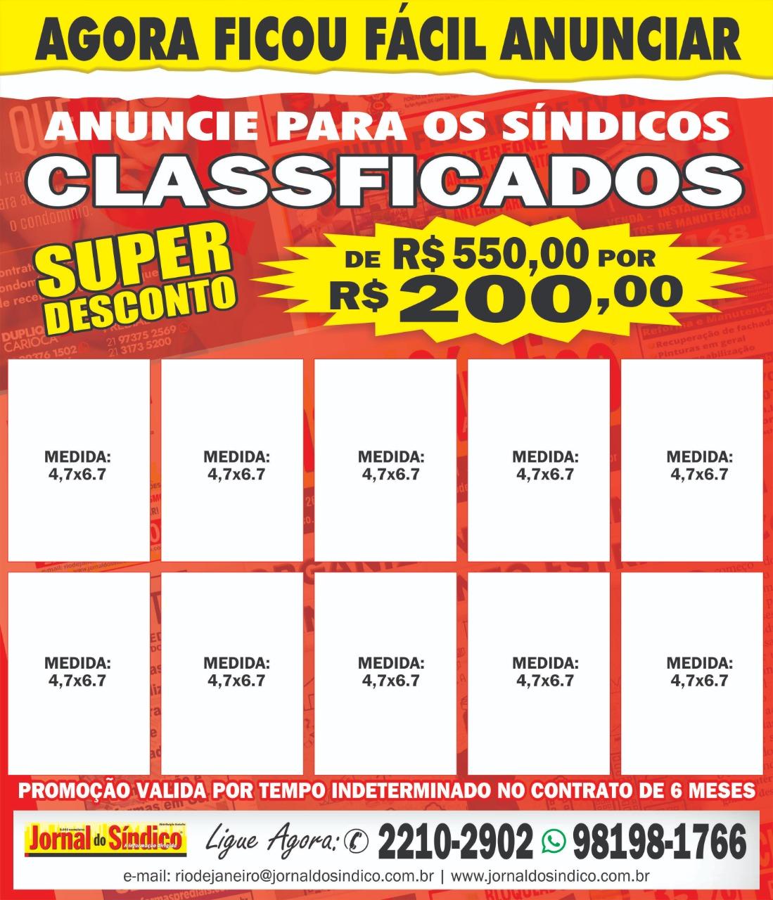 O Jornal do Síndicio Rio preparou uma ótima promoção para você  vir anunciar conosco