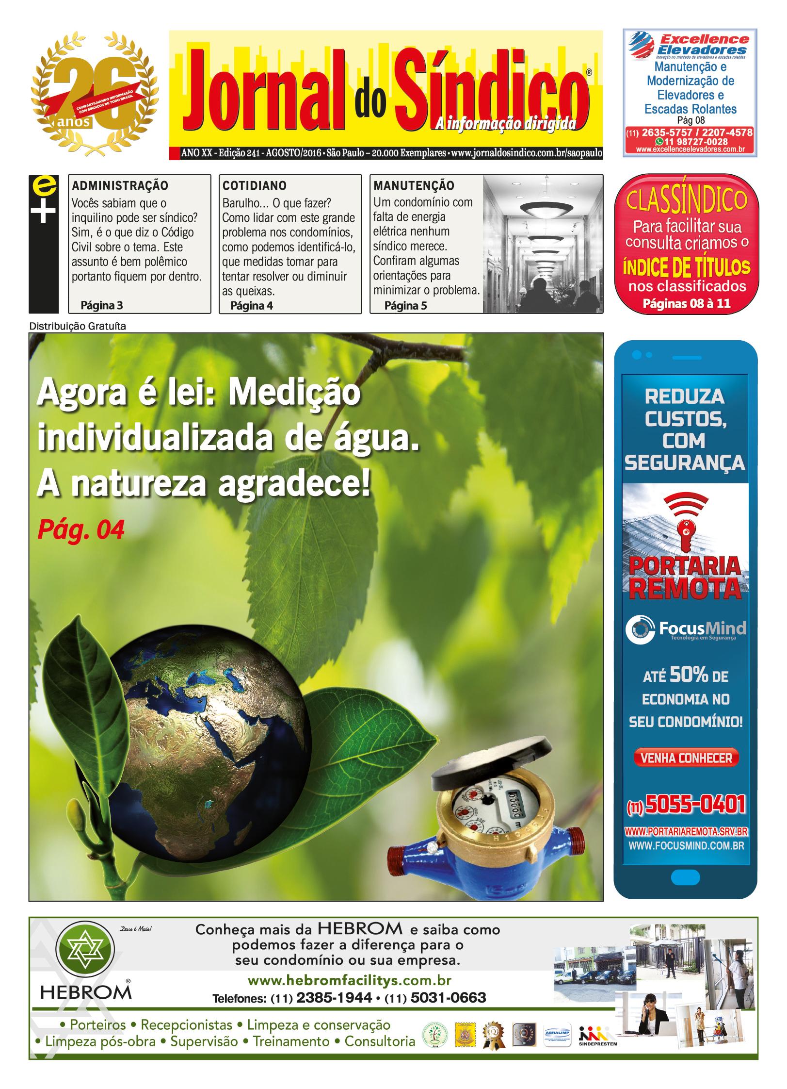 Jornal do sindico -edic 241 Agosto.indd